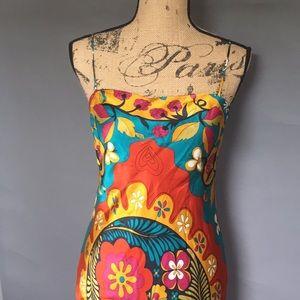 Lynda Procanik 100% silk midi dress